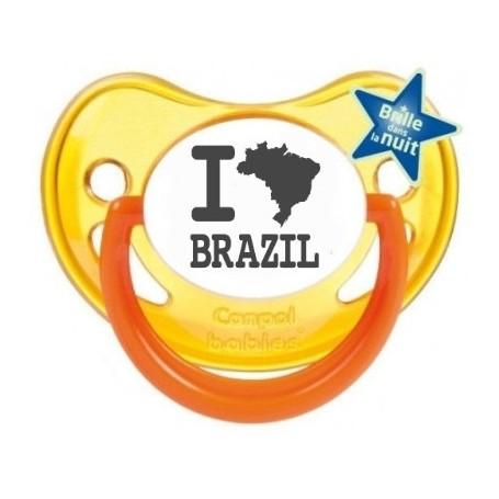 "Tétine bébé originale ""I love Brazil"""