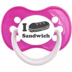 """Tétine bébé originale """"I love Sandwich"""""""