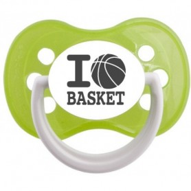 "Tétine bébé originale ""I love basket"""