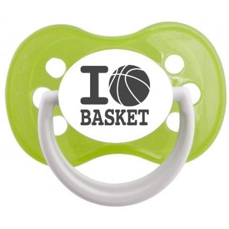 "Tétine bébé originale ""I love basket"""