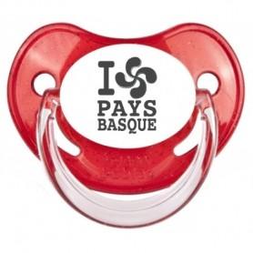 """Tétine bébé originale """"I love pays basque"""""""